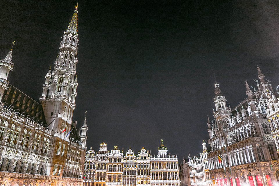 I Visited The Grand Place in Brussels at Midnight And I Was Surprised to See a Crowd of Hedonists (Belgium).