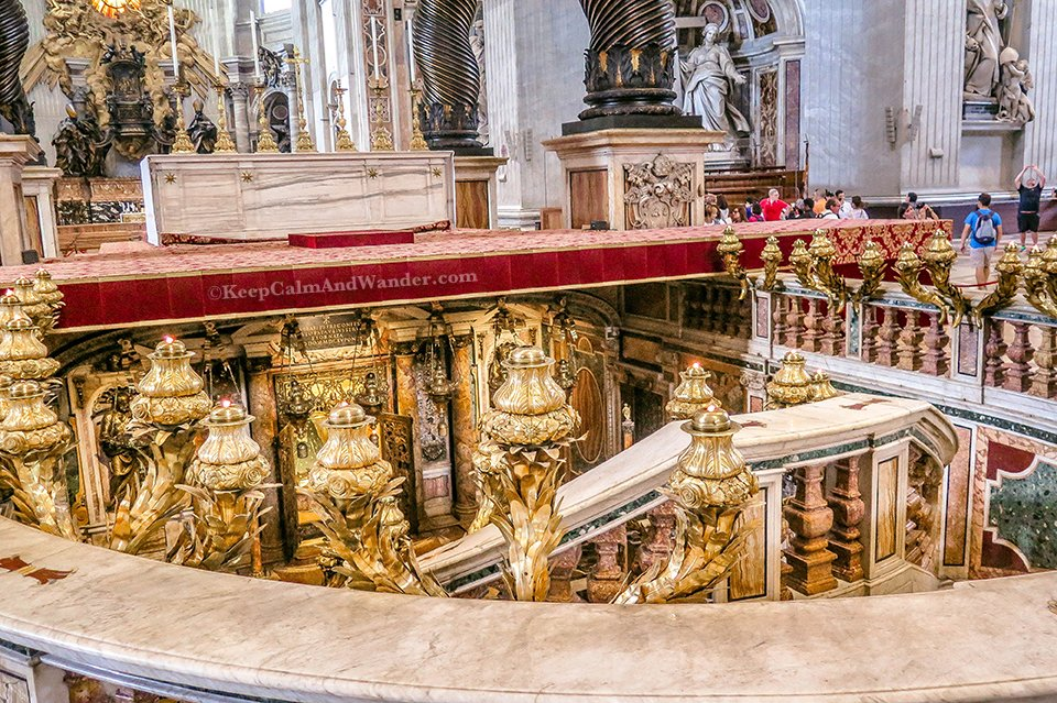 The Tomb of St Peter / Inside St Peter Basilica in the Vatican (Rome, Italy).