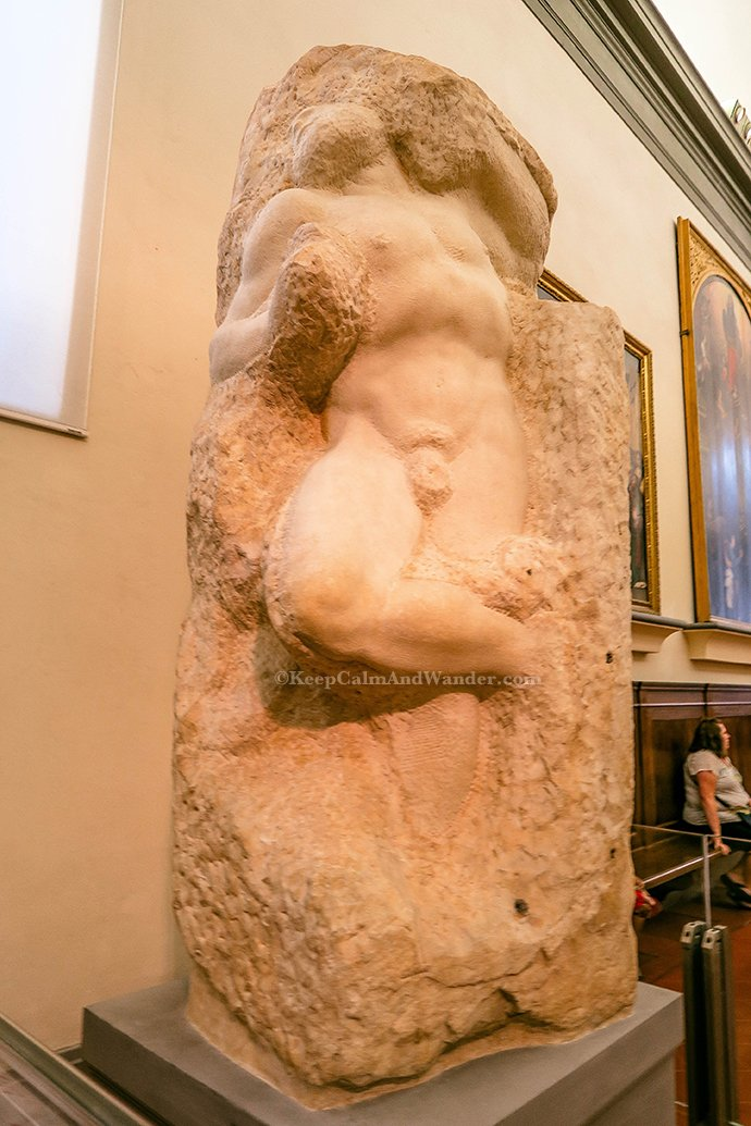 Prisoners / Unfinished Statues of Michelangelo and Other Masterpieces at the Academia in Florence (Italy).