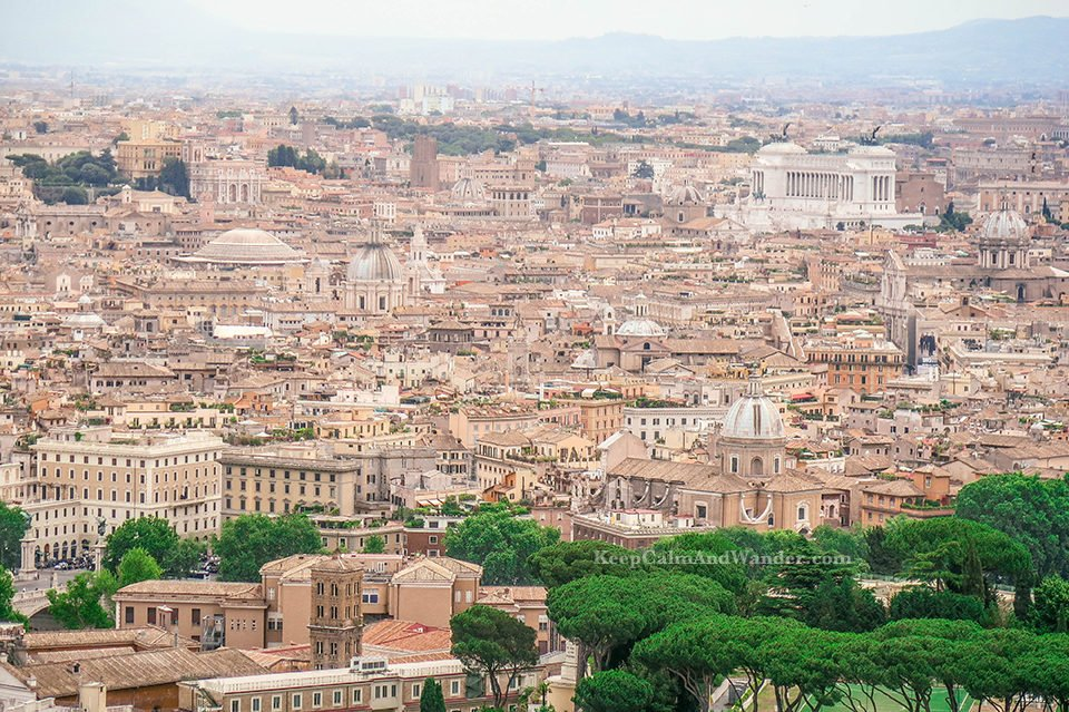 City Skyline: View of the Vatican from the Top of St Peter Basilica (Rome, Italy).