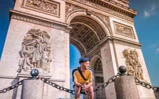 Arc de Triomphe in Paris (France).