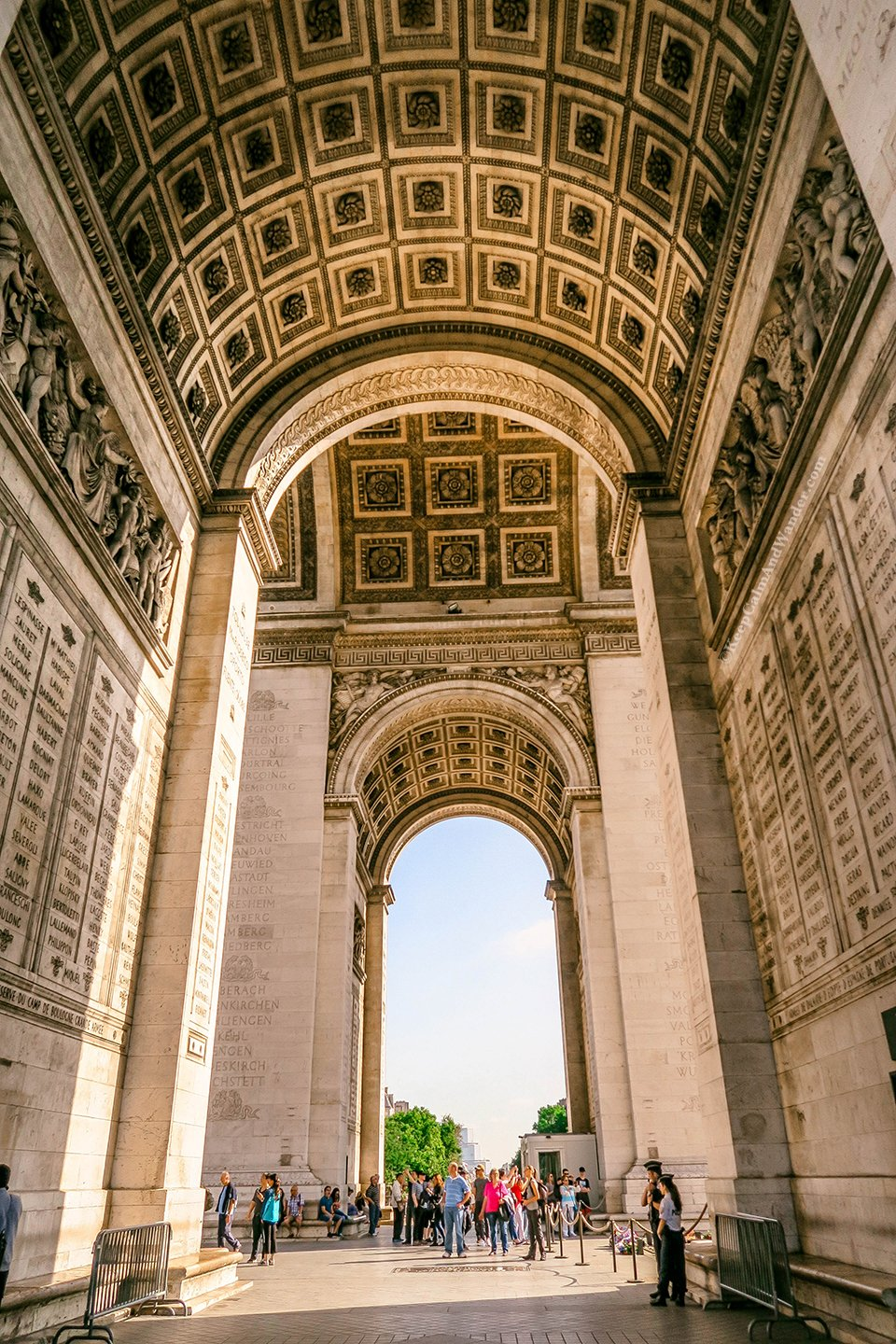 At Arc de Triomphe in Paris, All Twelve Avenues Meet Here (France).