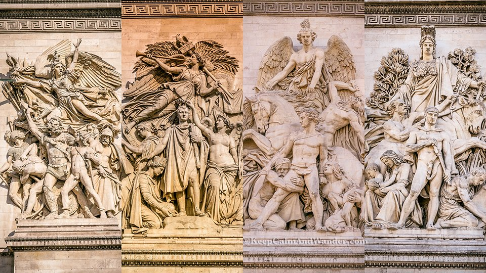 Francois Rude, La Marseillaise (first on the left) at Arch de Triomphe in Paris, France.