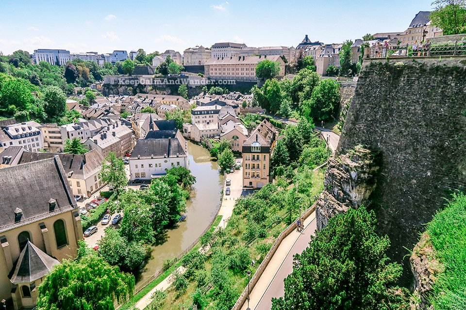 Chemin de la Corniche in Luxembourg is Europe's Most Beautiful Balcony.
