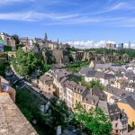 Chemin de la Corniche Promenade in Luxembourg is Europe's Most Beautiful Balcony