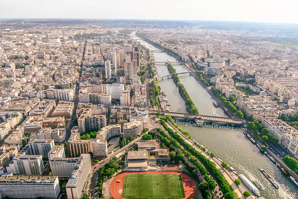 View of Paris From the Top of Eiffel Tower (France).
