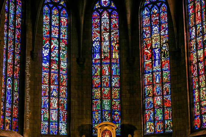 Inside the Notre Dame Cathedral in Luxembourg.