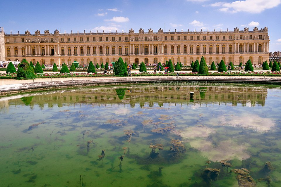 The Well-Manicured Gardens of Chateau de Versailles (France).