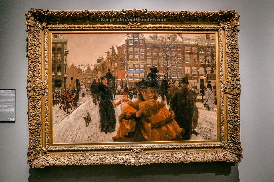 The Singel Bridge at the Paleisstraat in Amsterdam by George Hendrik Brietner inside Rijksmuseum in Amsterdam Netherlands