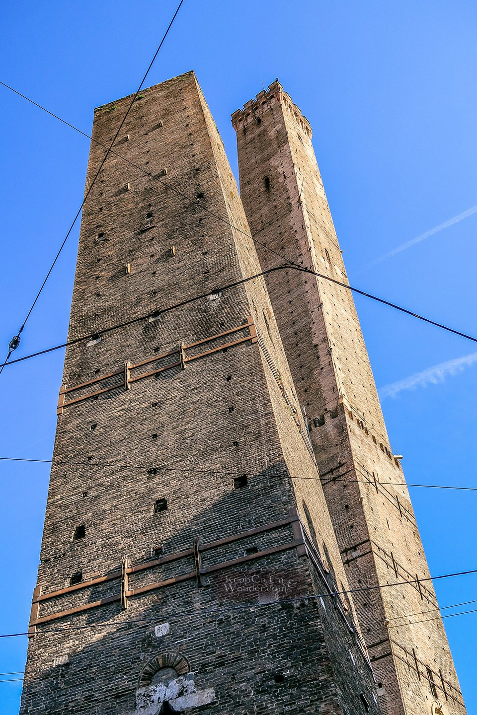 This Leaning Tower of Bologna Leans More Than the Leaning Tower of Pisa (Italy).
