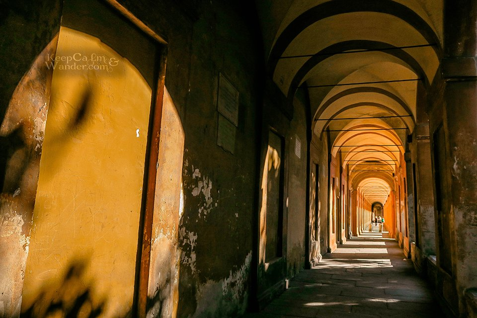 Travel Itinerary: A Day in Bologna (Portico de San Luca - Italy).