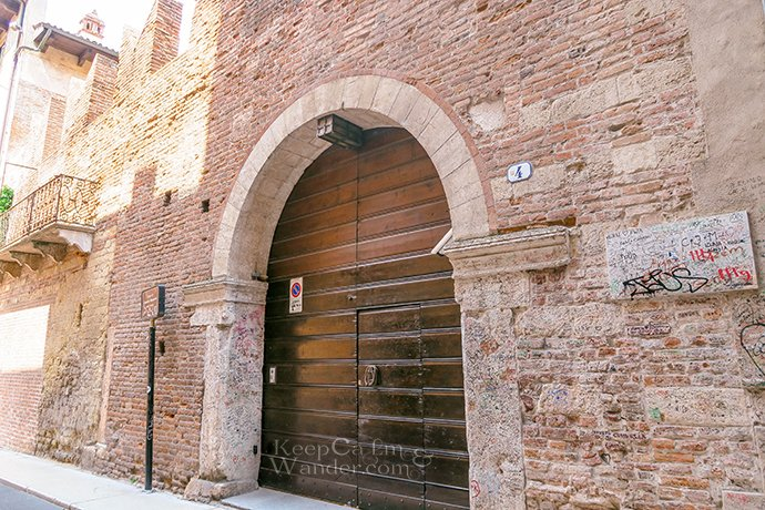 This is the House of Romeo in Verona (Italy).