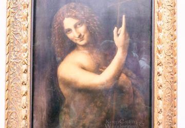 Five Leonardo Da Vinci Paintings Inside the Louvre Museum (Paris, France).