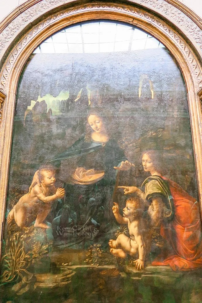 Five Leonardo Da Vinci Paintings Inside the Louvre Museum (Paris, France).