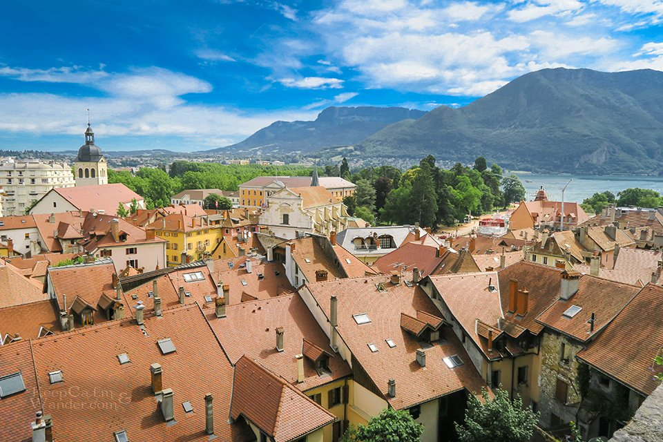 The Views of Beautiful Annecy from the Chateau (France).