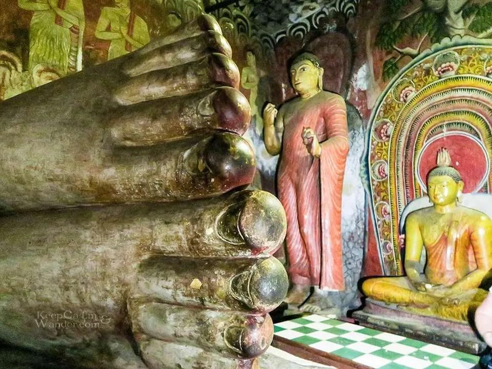 Inside the Cave of the Great Kings, near Sigiriya (Sri Lanka).