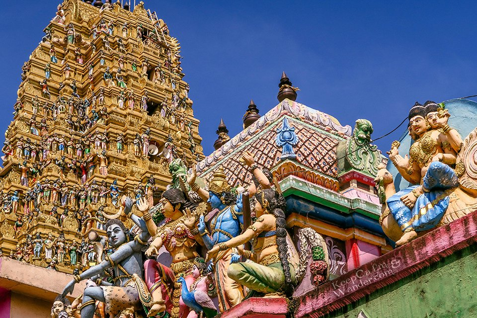 This Hindu Temple in Matale is Incredible, Colourful and Highly-Adorned (Sri Lanka).