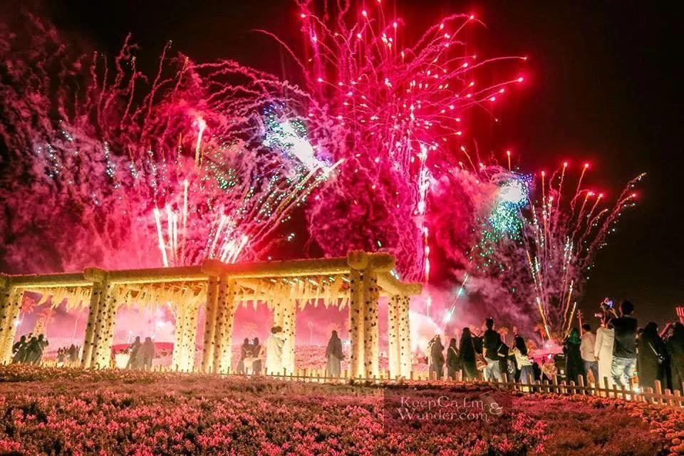 The Fireworks at Yanbo Flower Festival (Yanbu, Saudi Arabia).