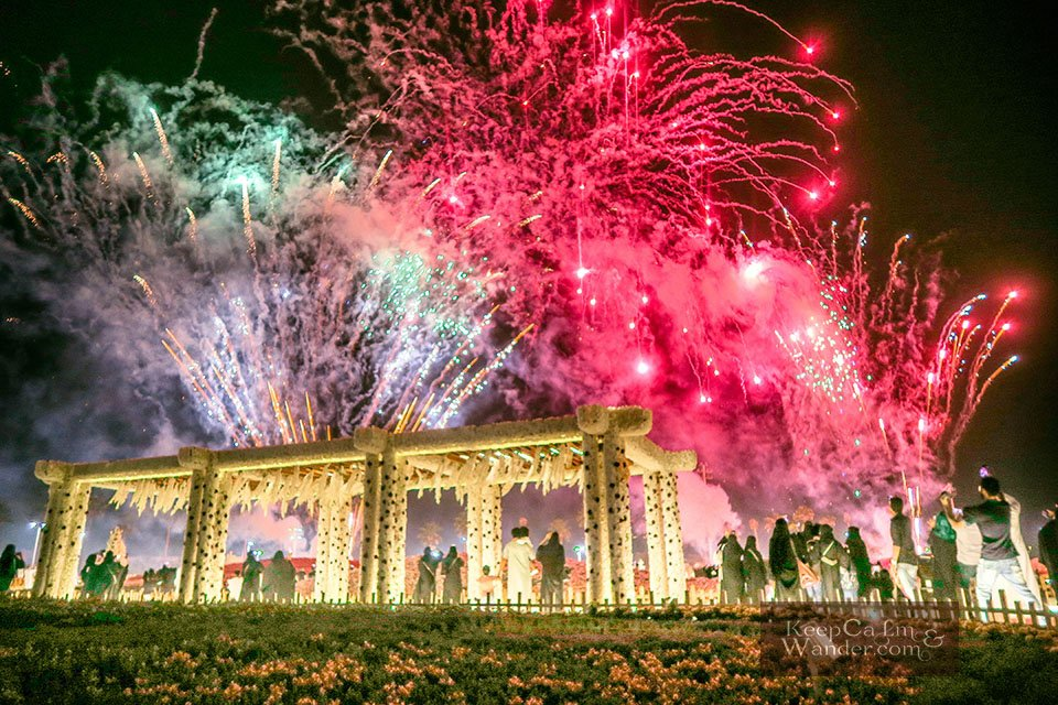 The pyrotechnic at Yanbo Flower Festival (Yanbo, Saudi Arabia).