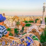 Park Guell in Barcelona is Visually Stunning