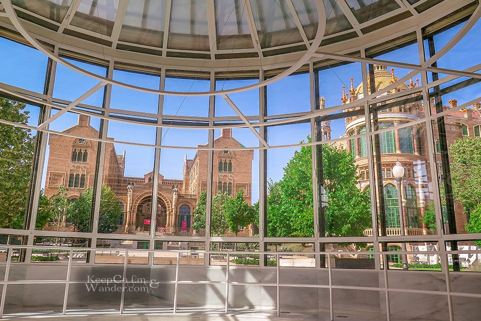 Hospital Sant Pau is Barcelona's Window to Art Nouveau (Barcelona, Spain).