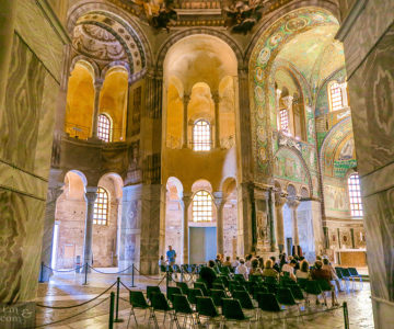 The Splendid Mosaics of Basilica di San Vitale in Ravenna (Italy).