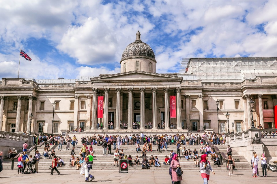 My Top 5 Galleries / Museums in London (The National Art Gallery).