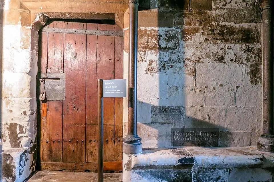 Britain's Oldest Door inside Westminster