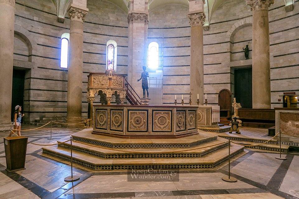 The Baptistery of Pisa - Where Galileo Was Baptized