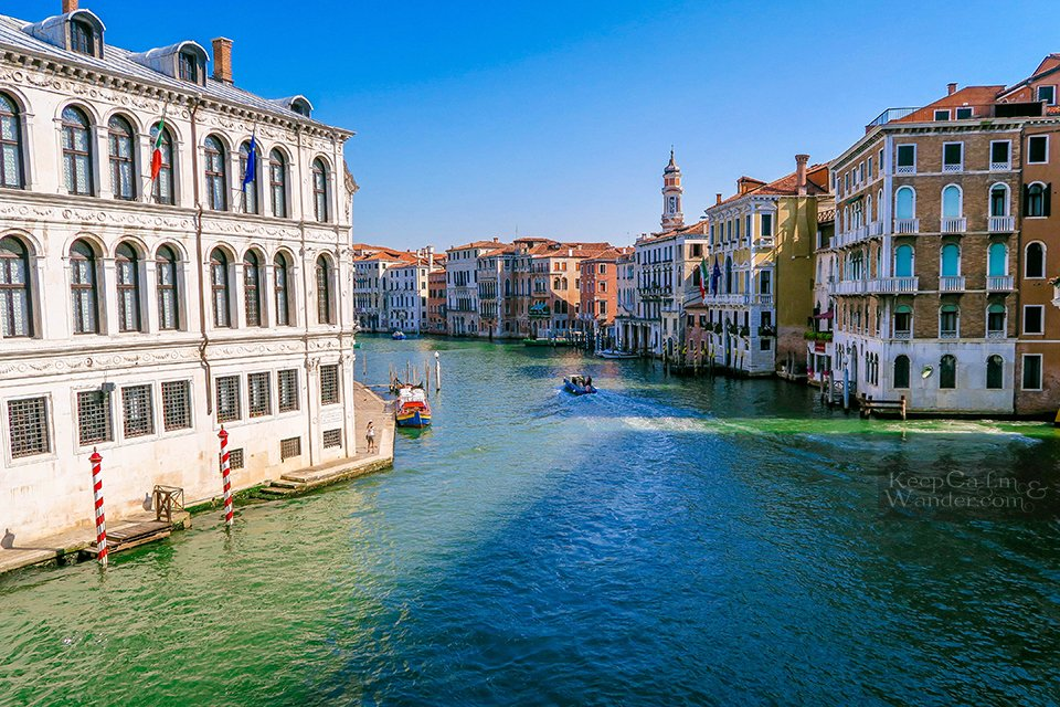 The Views From Realto Bridge - The Oldest Bridge in Venice (Italy).