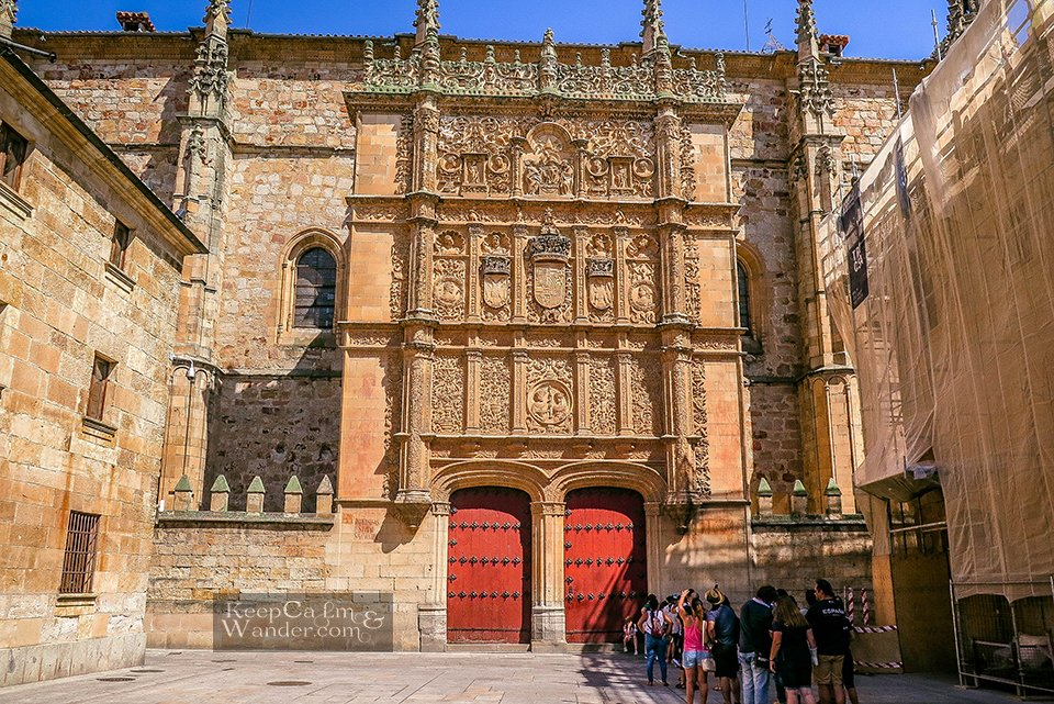 Old Door of the University of Salamanca - One Day in Salamanca (Spain).