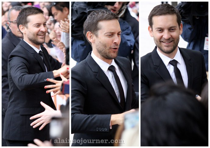 Tobey Maguire at the 2014 TIFF for PAWN SACRIFICE.