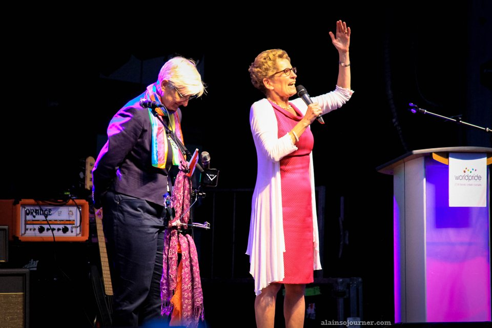 Kathleen Wynne, Ontario's first gay elected Premier in Canada.