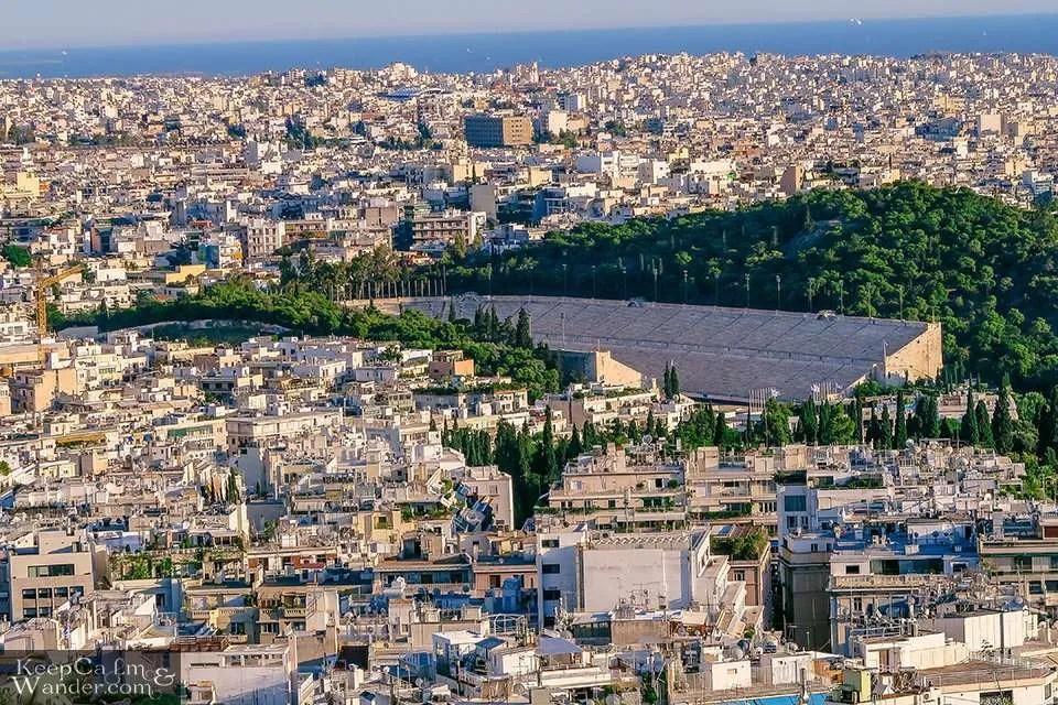 City Skyline: The Views of Athens from Mt Lycabettus (Athens, Greece). Travel Blog Panathenaic Stadium
