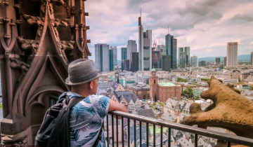 The Views from Kaiserdom (Cathedral Tower) in Frankfurt (Germany). Photo Travel Blog