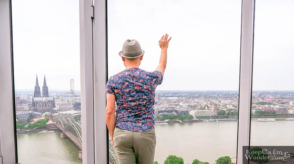 View from the Koln Sky Tower Germany Travel Blog