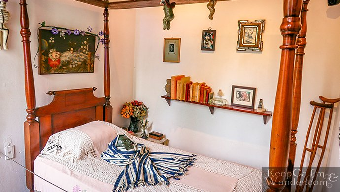 Frida Kahlo's bed at her house in Coyoacan