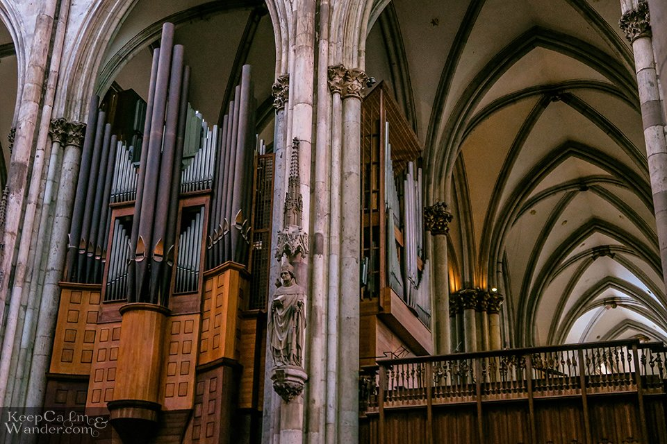 Inside Cologne Cathedral (Germany).