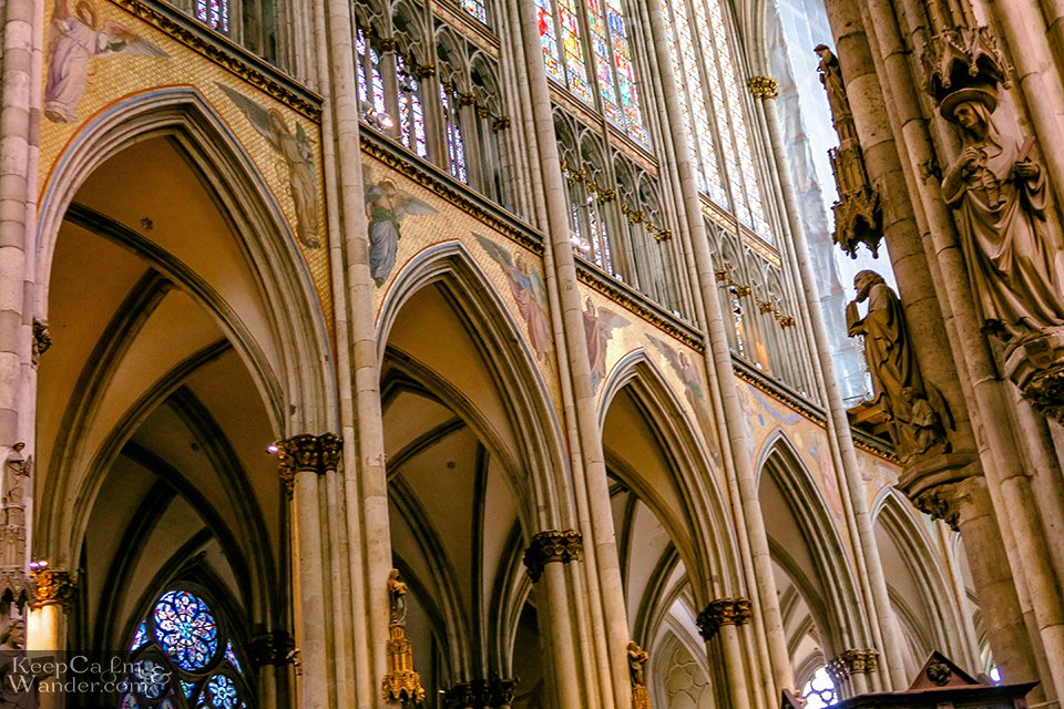 Inside Cologne Cathedral (Germany). Travel Blog
