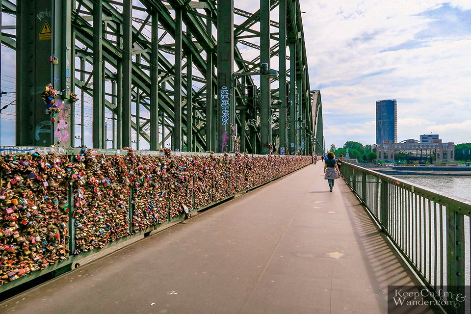 Love Locks Bridge in Cologne (Germany).
