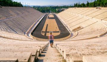 Panathenaic Stadium Olympics in Athens, Greece.