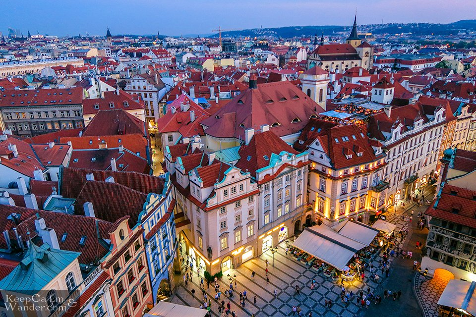 Prague Skyline from the top view