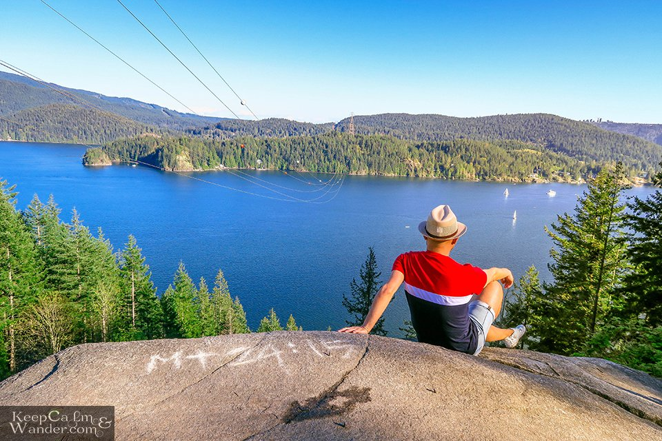 View from the top of Quarry in Deep Cove.