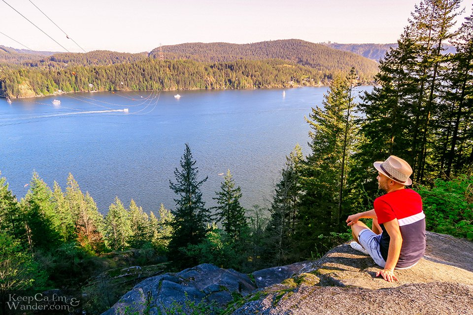 View from the top of Quarry Rock in Deep Cove.