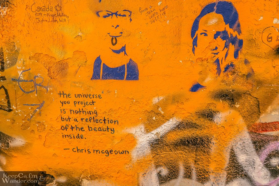 The Lennon Wall in Prague still remains a symbol of freedom up to this day (Czech Republic).