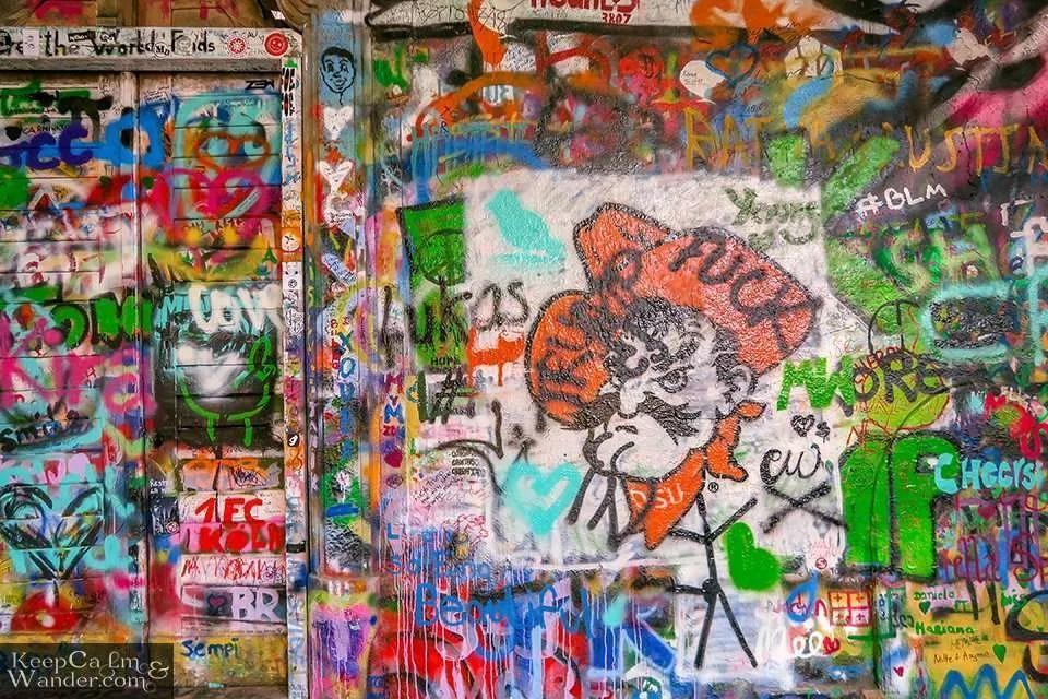 Graffiti Lennon Prague Wall