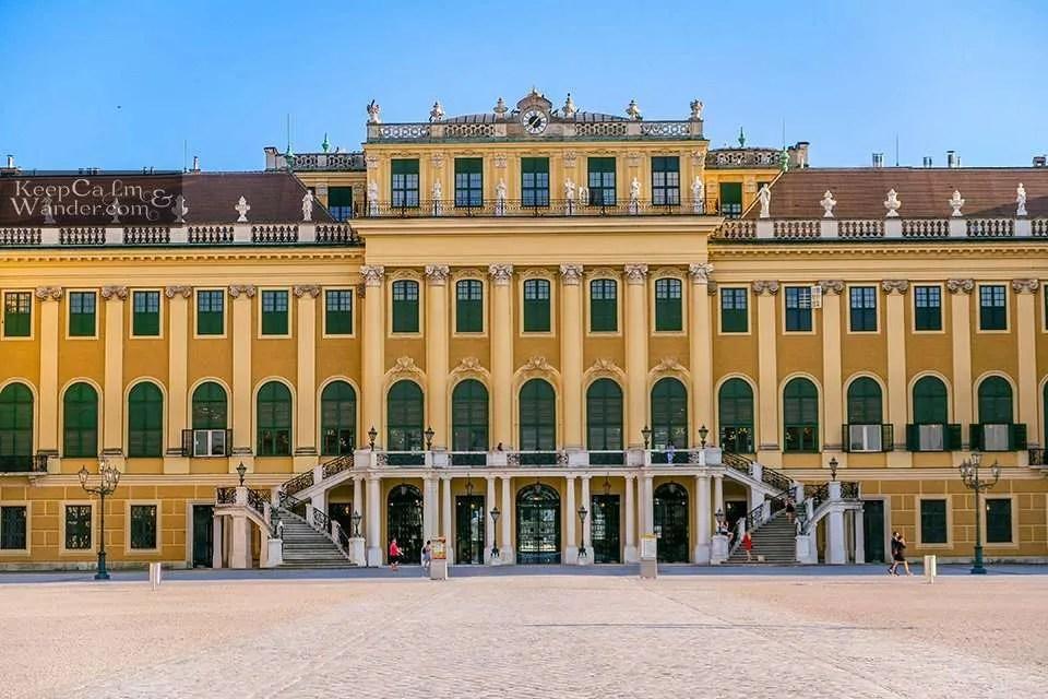 Schloss Schönbrunn Palace in Vienna Austria