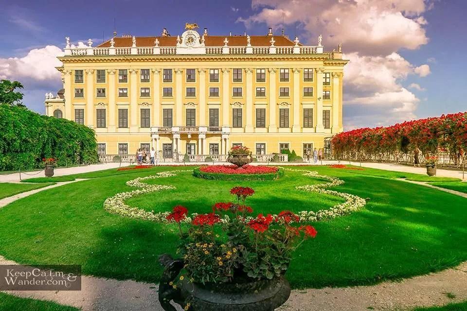 Schonbrunn Palace in Vienna (Austria).
