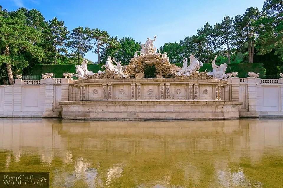 Neptune Fountain Schloss Vienna Garden