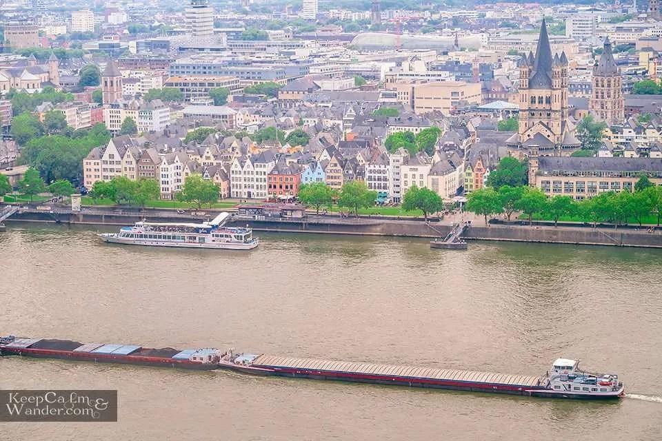 Cologne Skyline from KolnSky Rhine river Cologne Germany Travel Blog